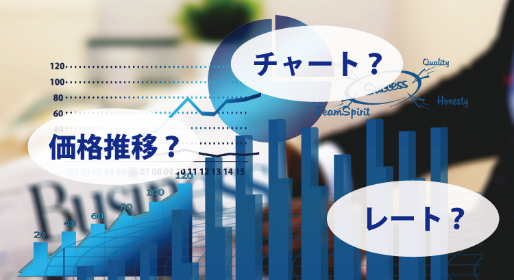 仮想通貨の価格推移?そもそもチャート・レートって何?